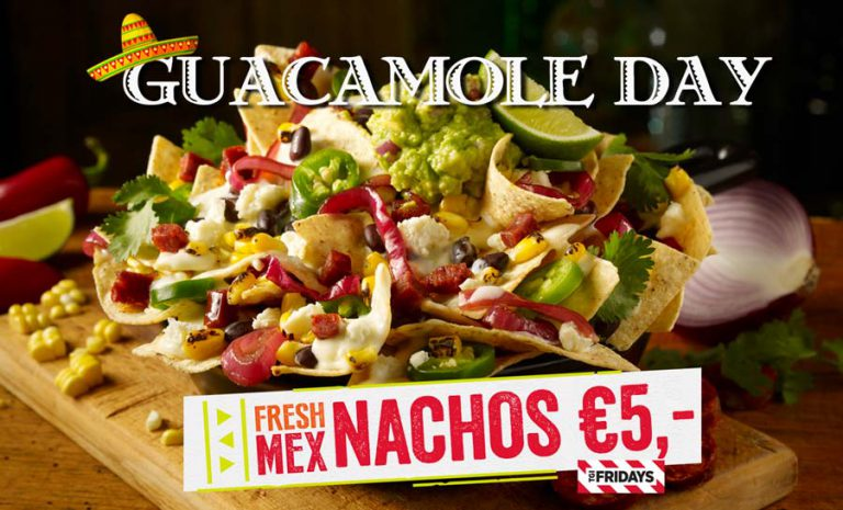 guacamole, nachos, TGI Fridays, Utrecht